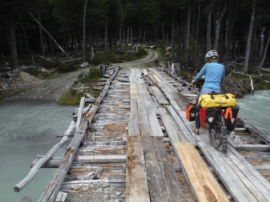 Some pretty rough bridges on the Chilean side.