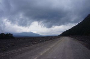 Ominous clouds as we start into the national park.