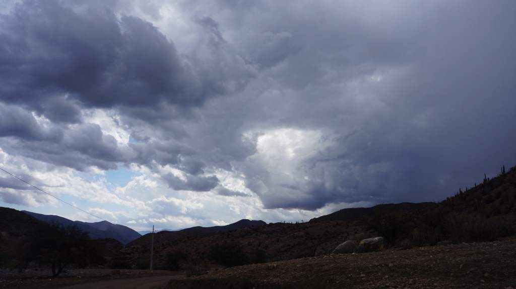 More storms as we approach Vicuna.