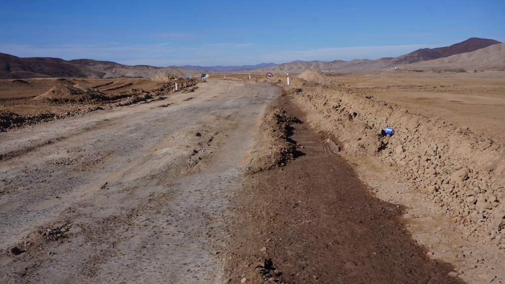 More road damage - this is Chile's main highway!