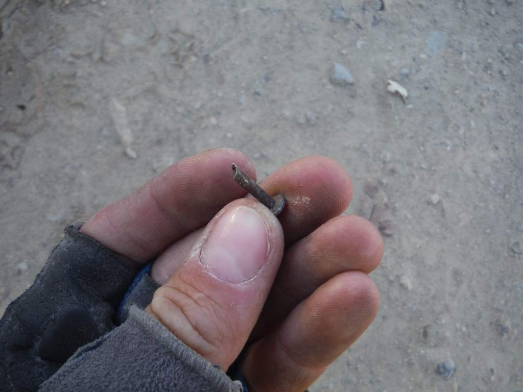 Jason's favorite puncture - a rusty nail