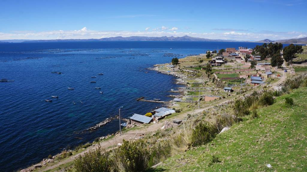 A fishing village along Lake Titicaca.