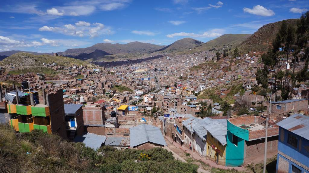 Our first city in Peru: Puno.
