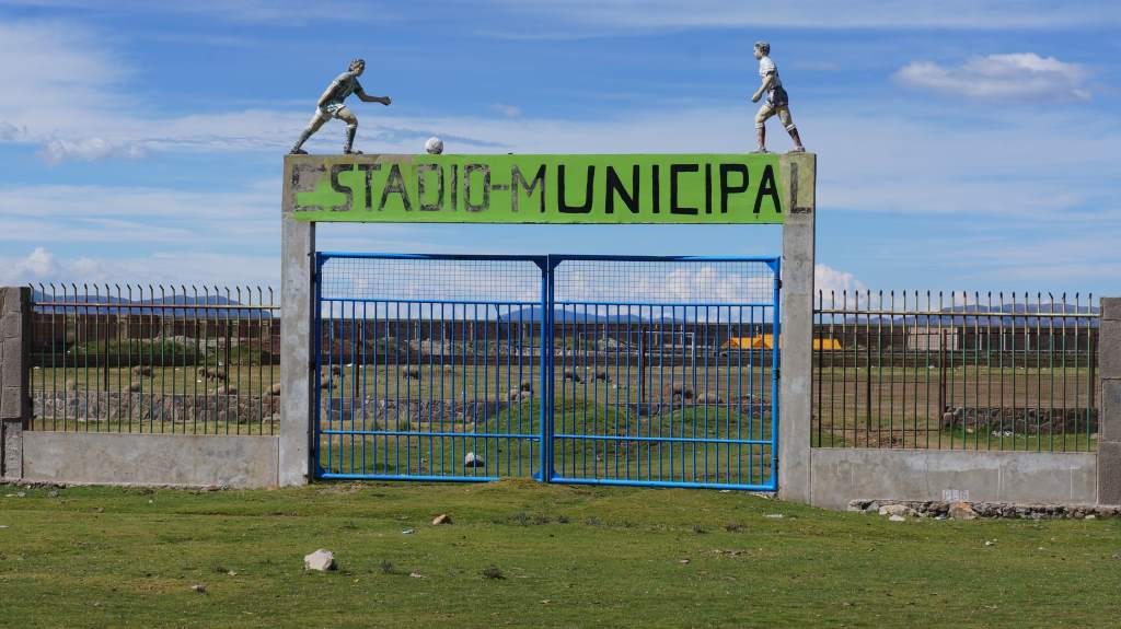 Many of the small towns have municipal sports stadiums. Most of them have livestock inside!