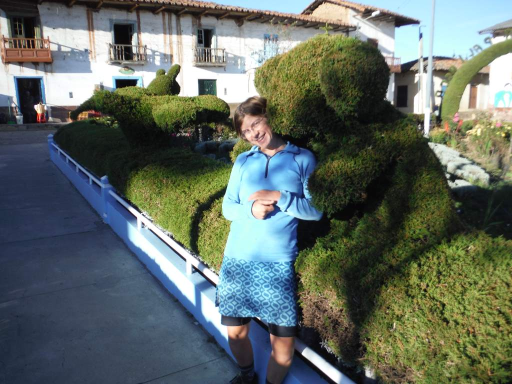 I got hugged by a topiary bear.
