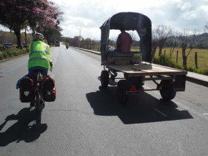 Many buggies as we left Popayan.