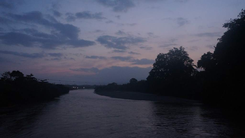 Dawn along the river